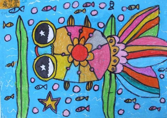 儿童简单金鱼画画图片大全